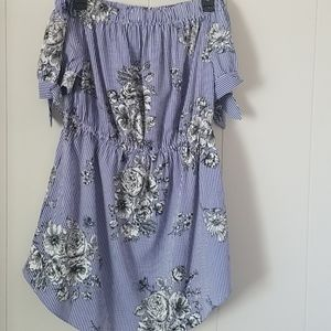 2 For $10 Striped blue and white tunic